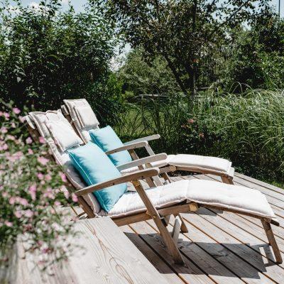 Terrasse der Ferienwohnung Linde